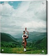 The Piper At The Great Glen Acrylic Print
