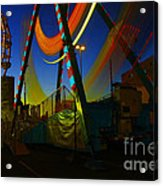 The Pirate Ship And Big Wheel  Acrylic Print