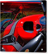 The Pitts S2-b Biplane - Will Allen Airshows Acrylic Print