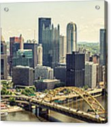 The Pittsburgh Skyline Acrylic Print by Lisa Russo