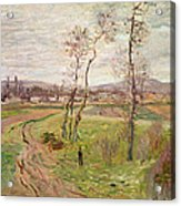 The Plain At Gennevilliers Acrylic Print by Claude Monet