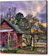 The Play House At Sunset Near Lake Oconee. Acrylic Print by Reid Callaway