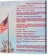 The Pledge Acrylic Print