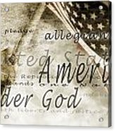 The Pledge Of Allegiance And An Acrylic Print
