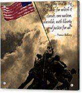 The Pledge Of Allegiance - Iwo Jima 20130211v2 Acrylic Print