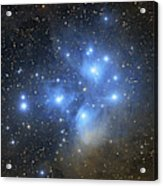 The Pleiades Open Star Cluster Acrylic Print