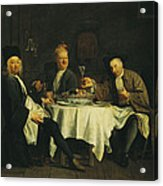 The Poet Alexis Piron 1689-1773 At The Table With His Friends, Jean Joseph Vade 1720-57 And Charles Acrylic Print