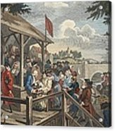 The Polling, Illustration From Hogarth Acrylic Print