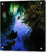 The Pond At Dusk Acrylic Print