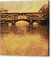 The Ponte Vecchio In Florence Italy Acrylic Print