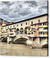 The Ponte Vecchio In Florence Acrylic Print