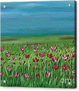 The Poppy Field Acrylic Print