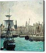 The Port At Calais Acrylic Print