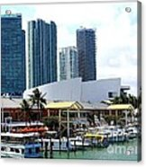 The Port Of Miami At Bayside Acrylic Print