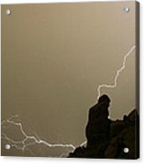 The Praying Monk Lightning Strike Acrylic Print
