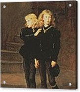 The Princes Edward And Richard Acrylic Print by Sir John Everett Millais