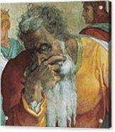 The Prophet Jeremiah Acrylic Print by Michelangelo