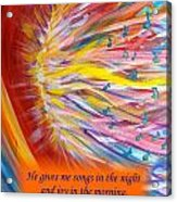 The Prophetic Song Acrylic Print