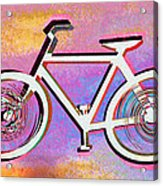The Psychedelic Bicycle Acrylic Print