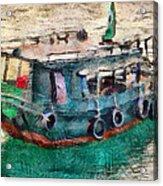 The Pulling Boat  Acrylic Print
