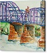The Purple People Bridge Acrylic Print