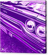 The Purple People Eater - 1970 Plymouth Gtx Acrylic Print