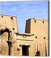The Pylons Of Edfu Temple Acrylic Print