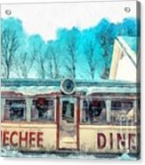 The Quechee Diner Vermont Acrylic Print