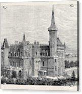 The Queens Residence In Italy Villa Clara Lago Maggiore 1879 Acrylic Print