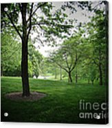 The Quiet Park Acrylic Print