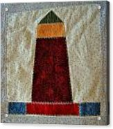 The Quilt Work Of Chambers Island Lighthouse  Acrylic Print