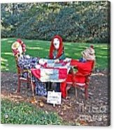 The Quilting Bee Scarecrows Acrylic Print