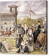 The Races At Longchamp In 1874 Acrylic Print