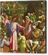 The Raising Of Lazarus, C.1517-19 Oil On Canvas Transferred From Wood Acrylic Print