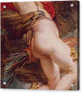 The Rape Of Ganymede Acrylic Print by Rubens