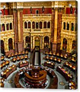 The Reading Room Acrylic Print