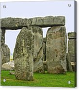 The Real Stonehenge Acrylic Print by Linda Phelps