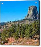 The Realm Of Devils Tower Acrylic Print