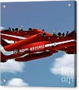 The Red Arrows Synchro Pair Acrylic Print