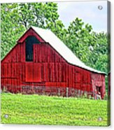 The Red Barn - Featured In Old Buildings And Ruins Group Acrylic Print