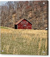 The Red Barn Acrylic Print