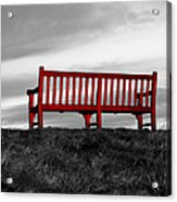 The Red Bench Acrylic Print