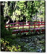 The Red Bridge Acrylic Print