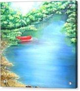 The Red Canoe Acrylic Print
