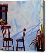 The Red Chairs Acrylic Print