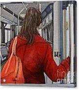 The Red Coat Acrylic Print