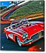 The Red Corvette Acrylic Print