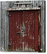 The Red Door Acrylic Print
