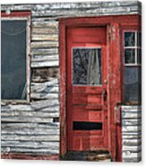 The Red Door Acrylic Print by Eric Gendron