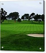 The Red Flagstick-torrey Pines Acrylic Print
